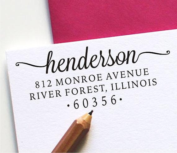Custom Address Stamp Self Inking Personalized 121