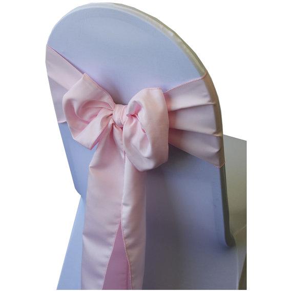 Mariage - Pink Lamour Satin Chair Sash
