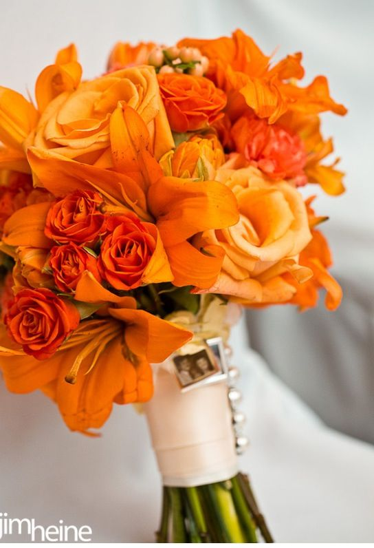 Orange Coral Peach Wedding Theme