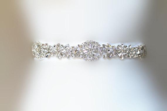 Hochzeit - SALE Wedding Belt, Bridal Belt, Sash Belt, Crystal Rhinestones & party belt , party sash