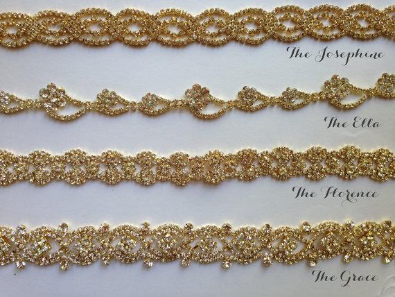 زفاف - Gold Wedding belt, Gold bridal sash, Gold Rhinestone, Gold Diamond Sashes, Bride, Wedding, Fall