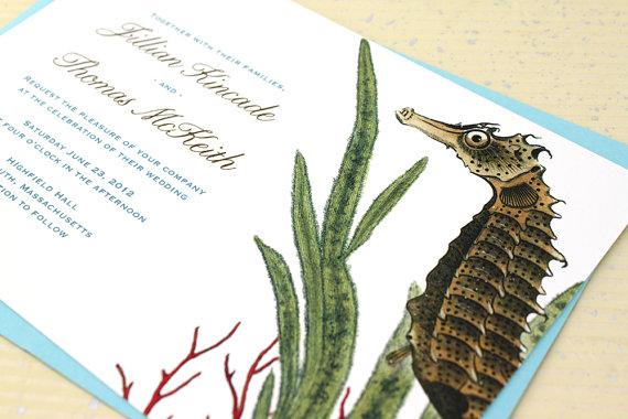Mariage - Seahorse Wedding Invitations - Sample
