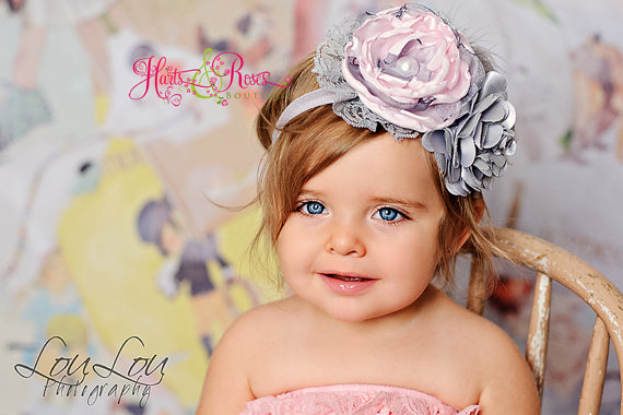 Pink Baby Headband.Girl Headband.Headband Flower Girl Headband.Headband.Couture  Headband.Shabby Chic Headband.Baby Girl Easter Headband b5703086dad