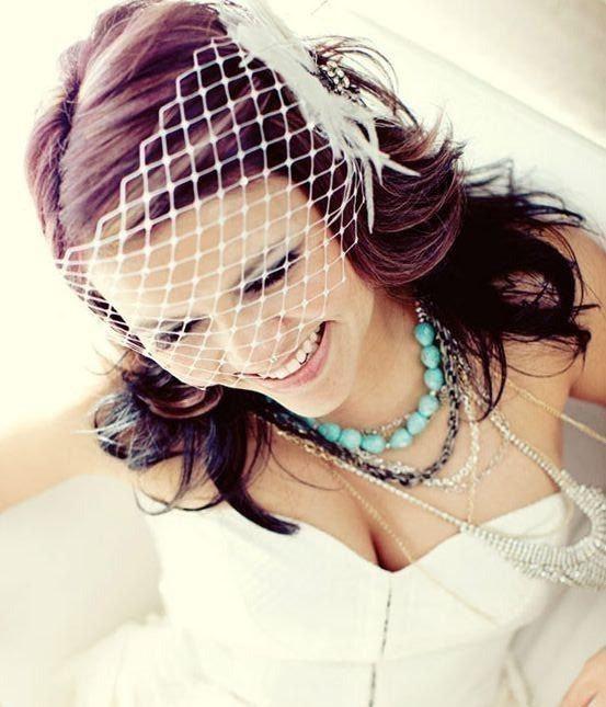 Свадьба - Bridal Birdcage Veil, Wide Net Veil, Bandeau Wedding Veil, Hair Netting, VISTA
