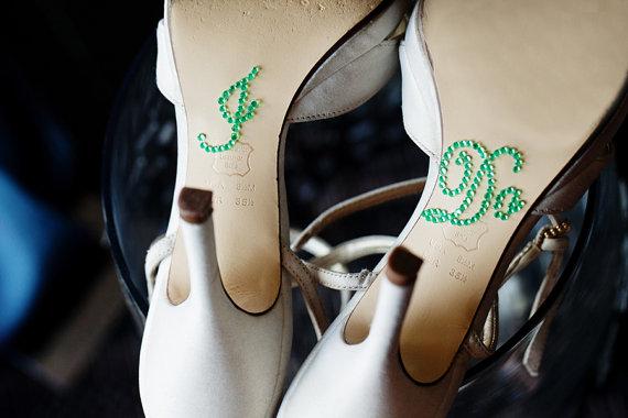 Mariage - Paris Green I Do Shoe Stickers for Brides // PARIS GREEN