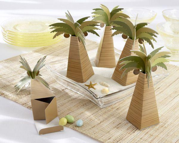 Wedding - Palm Tree Wedding Favor Boxes (Set Of 24)