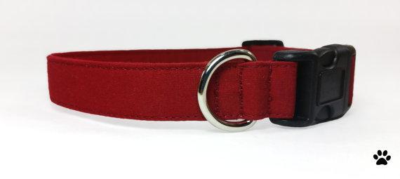 Свадьба - Burgundy wine red dog collar, cat collar, pet collar, burgundy cat collar, burgundy dog collar, dog wedding bow tie, wedding attire