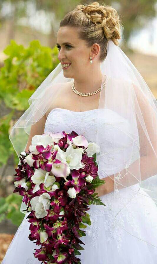 Wedding Bouquet - Bridal Bouquet- Cascading Bouquet - Silk Real ...