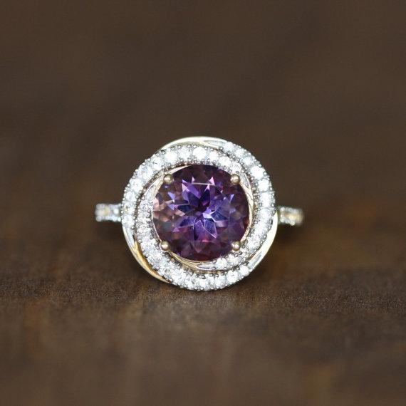 Engagement Ring February Birthstone Ring Gemstone Band Size 7