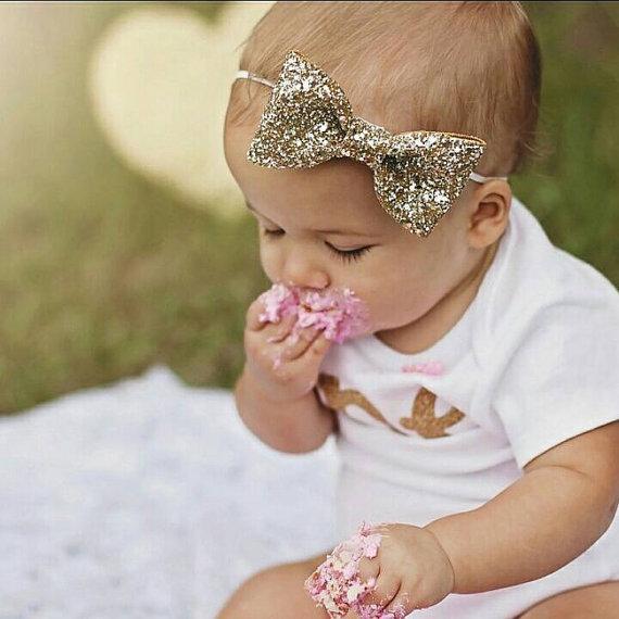 Glittery Bow Headband  804bb62a8d6
