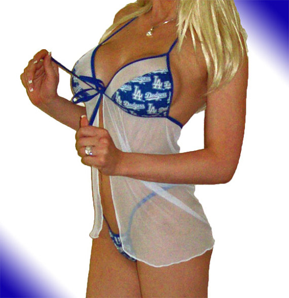 Свадьба - MLB Los Angeles Dodgers Lingerie Negligee Babydoll Sexy Teddy Set with Matching G-String Thong Panty - Only at Sexy Crushes
