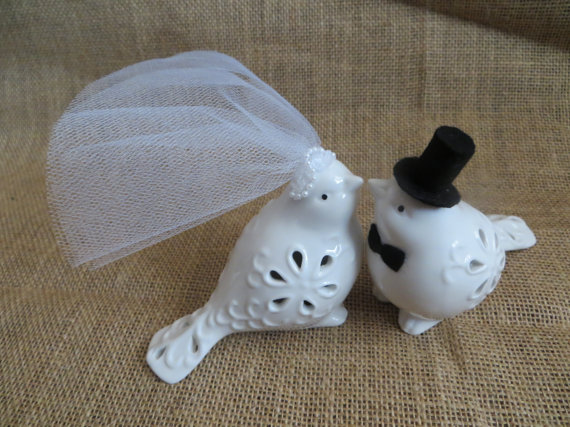 Wedding Bird Cake Topper, Ceramic Bird Cake Topper, Love Bird ...