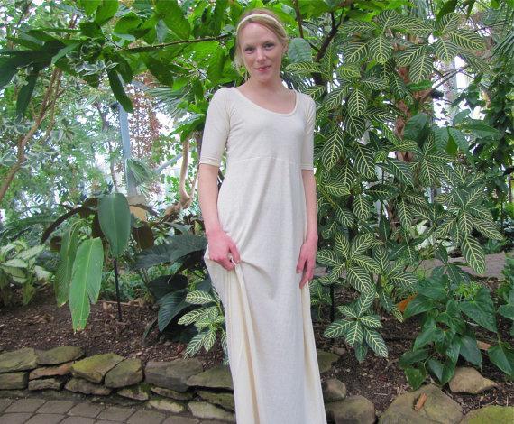 Hochzeit - Hemp Goddess Wedding Dress