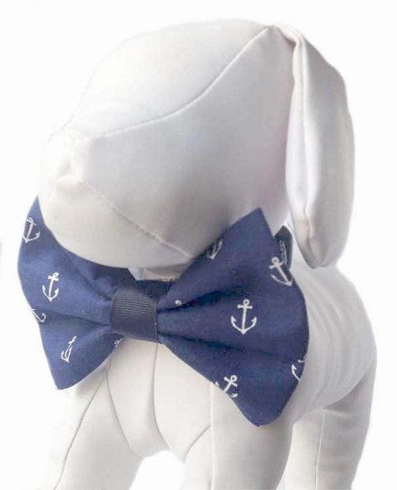 Свадьба - Anchor Dog Bow Tie