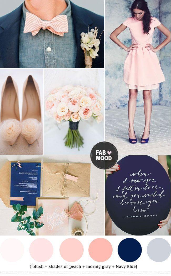 Peach wedding navy blue and peach wedding colors 2283206 weddbook