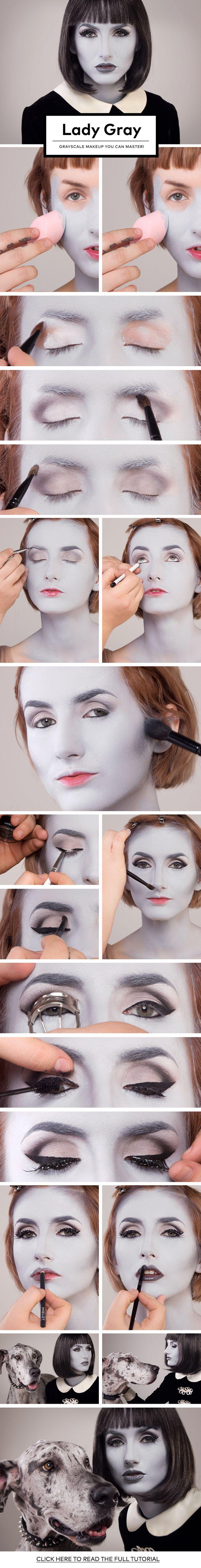 Свадьба - Lady Gray: Grayscale Makeup You Can Master!
