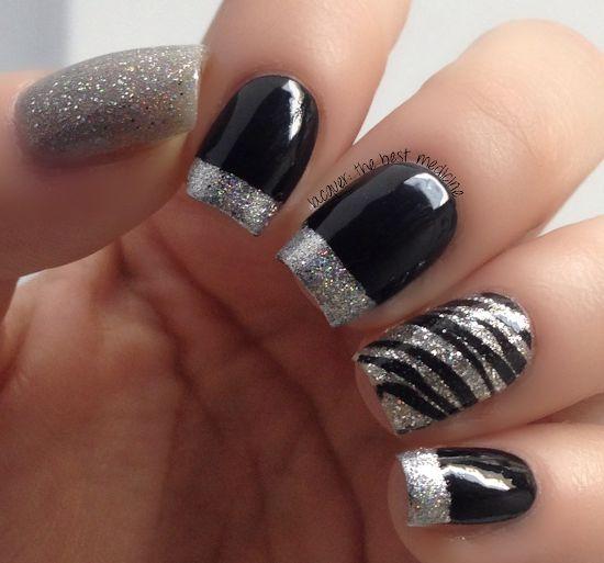 18 Fantastic Silver Nail Designs - Silver Wedding - 18 Fantastic Silver Nail Designs #2283279 - Weddbook