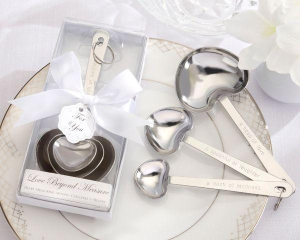 Wedding - Measuring Spoons In White Box Favor