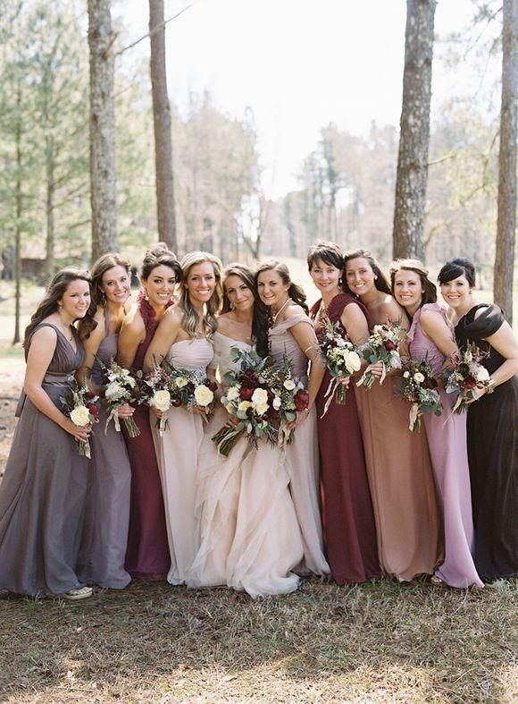 6aaabb1c8fee Autumn Wedding - Jewel Tone Bridesmaids Dresses #2283388 - Weddbook