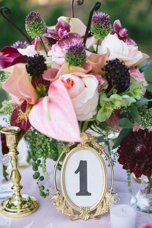 Свадьба - Table Number Ideas