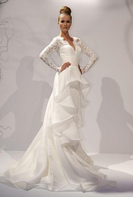 Dennis Basso - 2013 - Elena Organza And Lace A-Line Wedding Dress ...