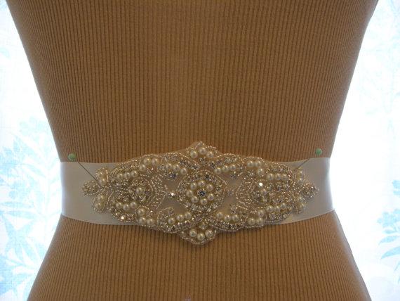 Düğün - SALE / Wedding Belt, Bridal Belt, Bridesmaid Belt, Sash Belt, Wedding Sash, Bridal Sash, Belt, Crystal Rhinestone & Pearl