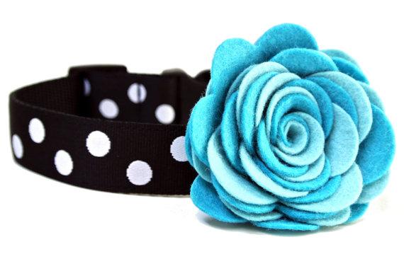 Свадьба - Dog Collar Flower Add-on Felt Flower