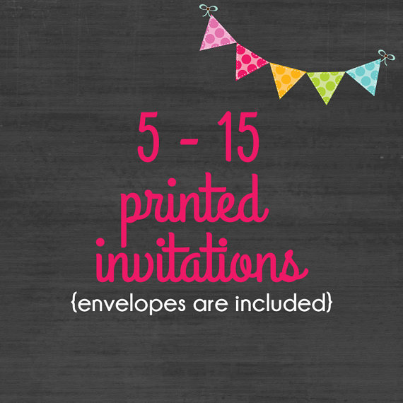 Mariage - 5-15 Professionally Printed 4x6 or 5x7 Invitations * Envelopes Included * Option available for printed matching address labels