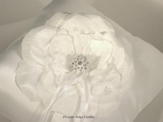 white ring bearer pillow bling ring bearer pillow floral
