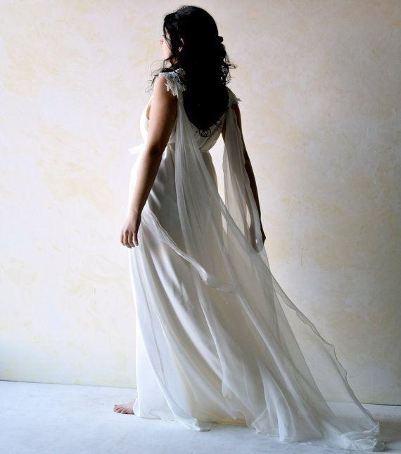 Ethereal Wedding Dress Tunic Wedding Dress Grecian Wedding Dress