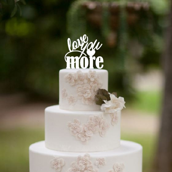 Love You More Wedding Cake Topper, Wedding Cake Decor ...