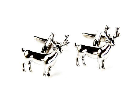 Свадьба - Deer Cufflinks - Groomsmen Gift - Men's Jewelry - Gift Box Included