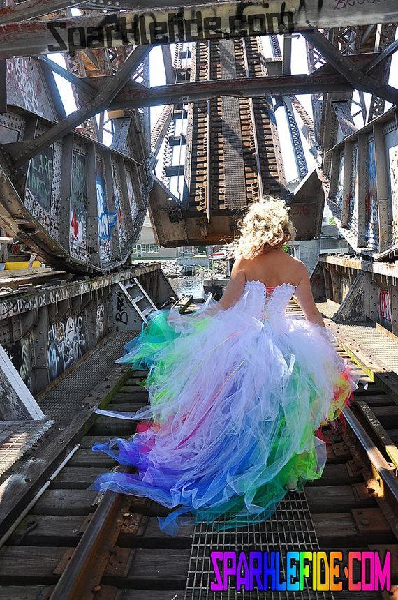 Rainbow Wedding - Vivid Rainbow Wedding Dress #2284469 - Weddbook