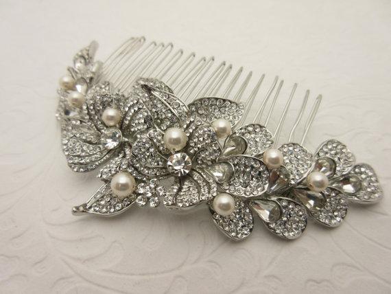 Свадьба - Pearl wedding hair comb wedding headpiece wedding hairpiece wedding hair accessories wedding hair jewelry wedding accessories bridal comb