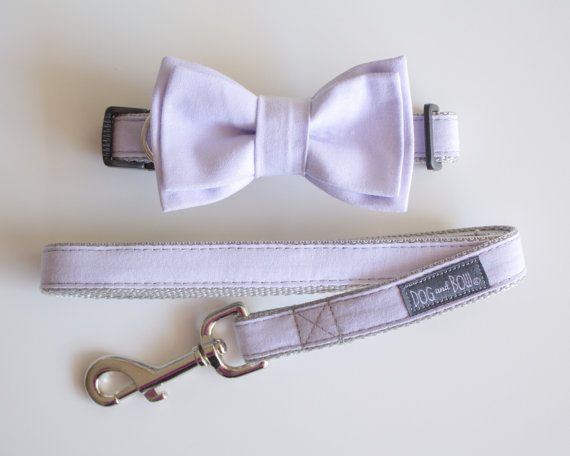 Свадьба - Light Purple Dog Collar with Removable Layered Bow Tie by Dog and Bow