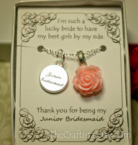 Wedding Gift Ideas For Junior Bridesmaids : ... Initial -- JBL - Junior Bridesmaid Gift -- Junior Bridesmaid Jewelry