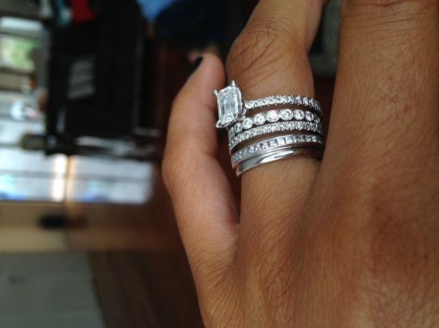 Mariage - Engagement Ring, Wedding Band, & A Band For Each Child. Love