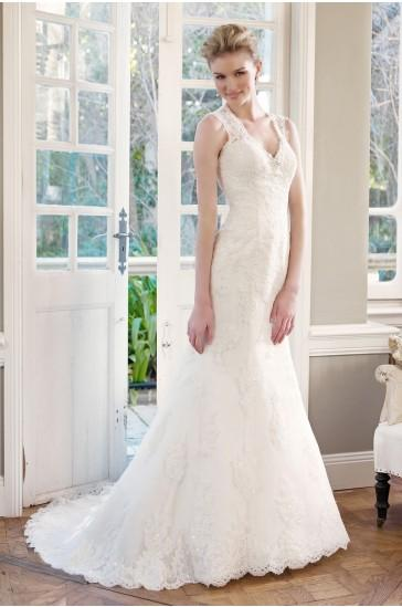 Mariage - Mia Solano Lace Slim A-line Wedding Dress
