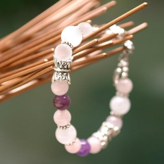 Свадьба - Butterfly Fertility Bracelet, Fertility Jewelry, Infertility Bracelet, Healing Gemstones, Pregnancy Jewelry, Wedding Shower Gift, New Bride