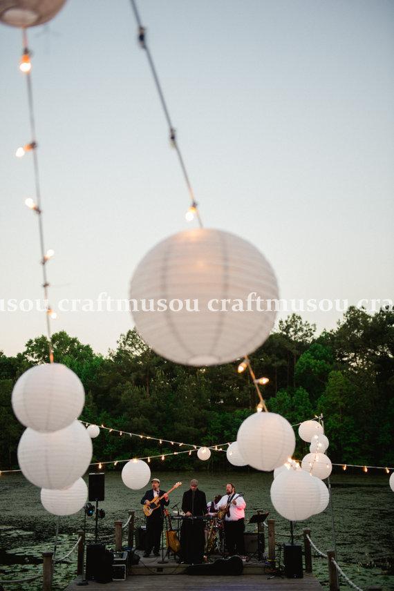 "Hochzeit - JUMBO SET 140 Round Chinese Paper Lantern led Set 5x24"" 15x20"" 40x18"" 40x16"" 20x12"" 20x10"" for Wedding Party Floral Event Sky Decoration"