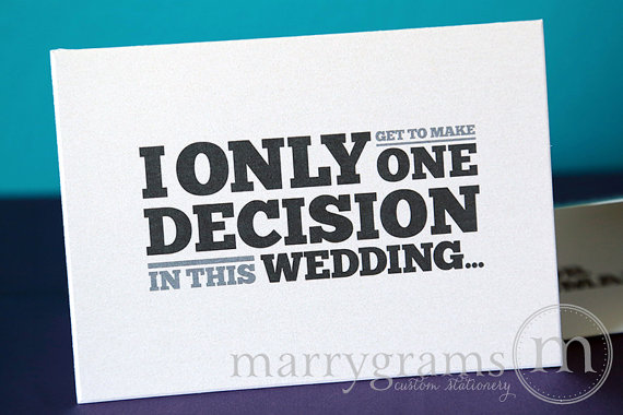 Wedding - One Decision Groomsman Card, Best Man, Usher, Ring Bearer, Wedding Party -Way for Guys to Ask Groomsmen Cards - Funny Groomsman Box - Single