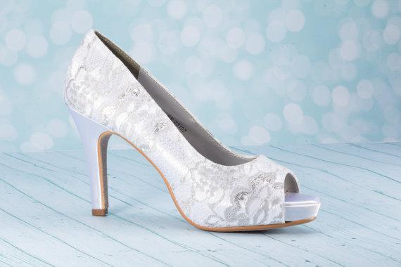 """زفاف - 3 1/4""""  Lace High Heel Shoe - Wedding Shoes - Choose From Over 200 Color Choices - Custom Wedding Shoe -Lace Shoe - Lace Wedding Shoe - Lace"""