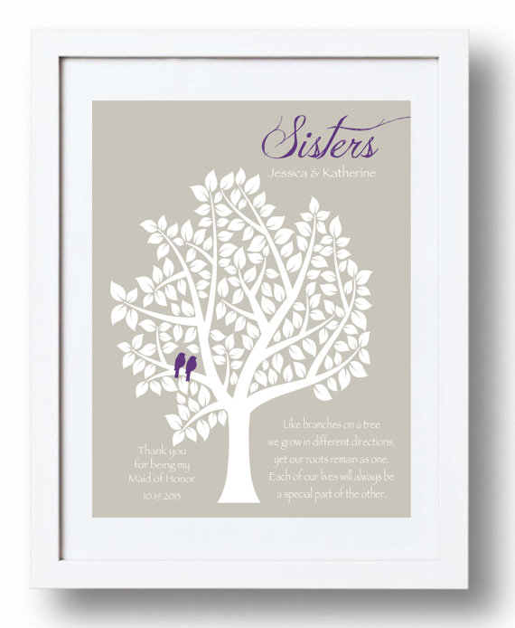 Wedding Day Gifts For Bride From Maid Of Honor : ... Personalized Gift for Sister on Wedding DayCan match Wedding colors
