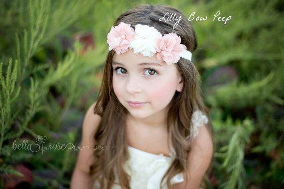 زفاف - Baby Headband,newborn Headband,Baby girl Headband,girls headband,Baby Headbands,Baptism Headband,Infant Headband, Baby Hair Bows-Flower girl