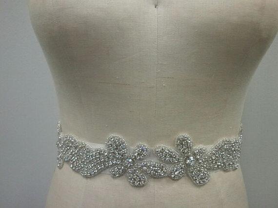 Mariage - Wedding Belt, Bridal Belt, Sash Belt, Crystal Rhinestone - Style B110