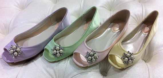 dyeable wedding shoes custom color over 100 colors flat