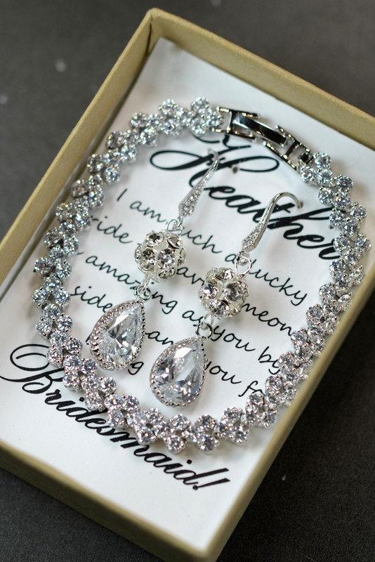 Wedding - 20%OFF Wedding Jewelry Bridesmaid Gift Bridesmaid Jewelry Bridal Jewelry  tear Drop Earrings Cubic Zirconia dangle Earrings ,bridesmaid gift