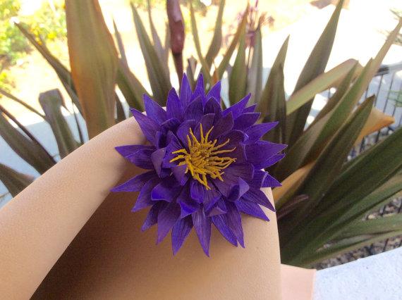 Mariage - Leather flower Flavia.