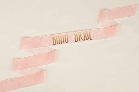 زفاف - Custom Bachelorette Sash, Bachelorette, Bride Sash, Bachelorette Gift, Bride To Be Sash, Blush Sash, Gold Bachelorette, Boho Bride