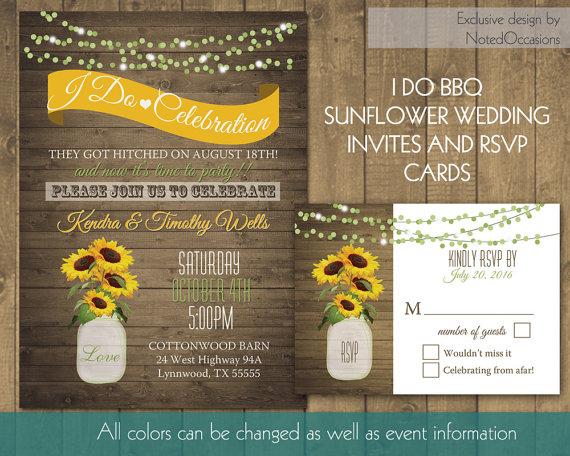 زفاف - I Do BBQ Wedding Reception Invitation